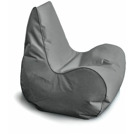 New Gamer Chair, Designer Recliner Gaming Bean Bag, Indoor & Outdoor Beanbag Chair (Water Resistant) - Dark Grey