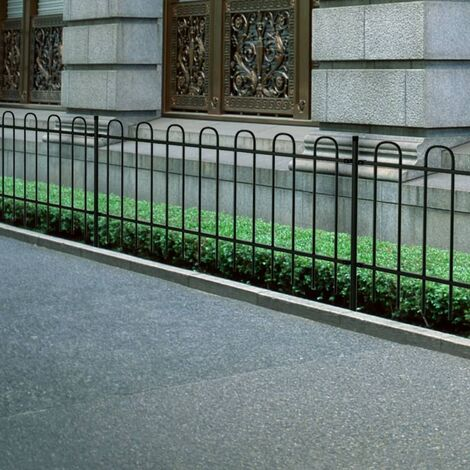 New Garden Fence Patio Security Palisade Steel Hoop Top 60/80/100/120/150 cm