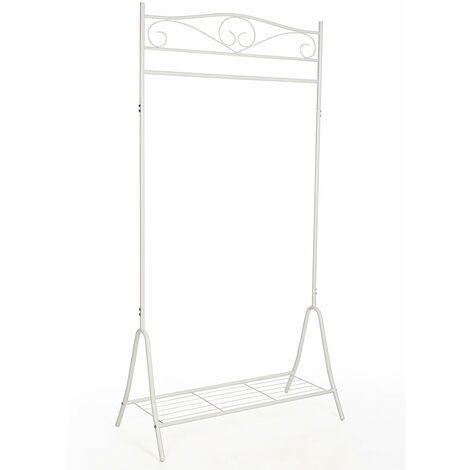 "main image of ""New Garment Coat Rack Clothes Rail Hanger 173 x 90 x 44.5cm Black/White"""