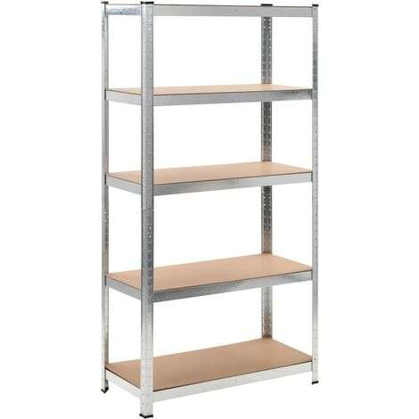 New Heavy-duty Storage Rack Galvanised Metal Storage Unit 5 Shelves Organizer