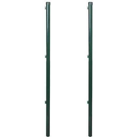 NEW Iron Fence Post 2pcs Working with Fence Posts 115/150/175/200cm Selectable