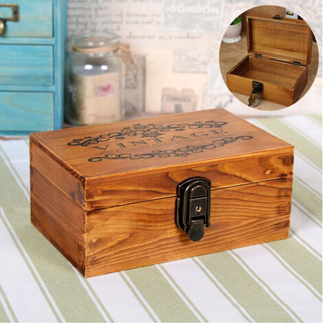New Jewelry Box Vintage Wood With Metal Lock And Cofet Gift Mohoo