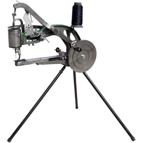 New Leather Cobbler Shoe Repair Machine Dual Cotton Nylon Line Sewing Machine UK