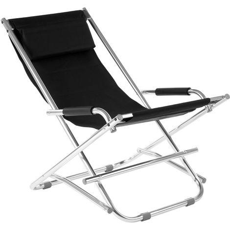New look folding garden chair,aluminium frame, polyurethane covering