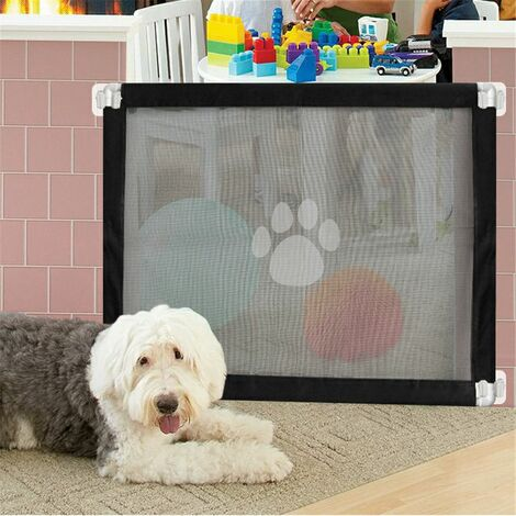 New Magic Pet Dog Gate Safe Guard Mesh and Install Pet Safety Enclosure Anywhere # Safety Net & Tube (Pet Fencing Net Only - No Hookers)