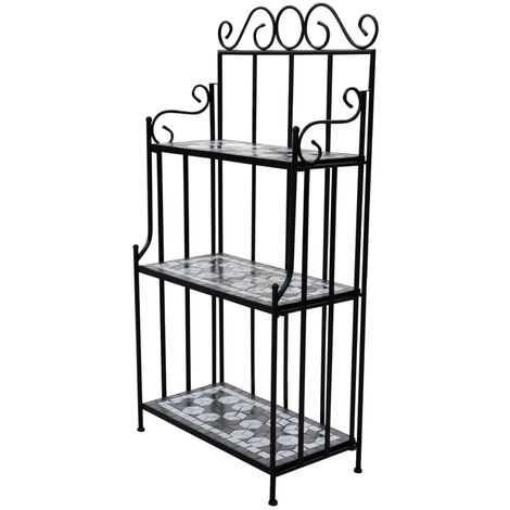 New Metal Plant Stand Display 3-Shelf Stand Mosaic Home Garden Decor 3 Colours