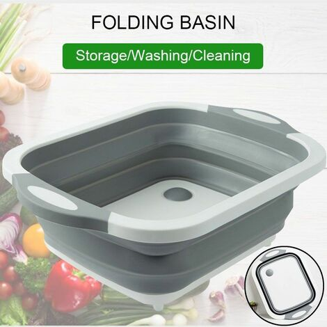 New Multifunctional Kitchen Sink Foldable Sink Drain Basket Home Wash Fruit Bowl Storage Basket Wash Basket