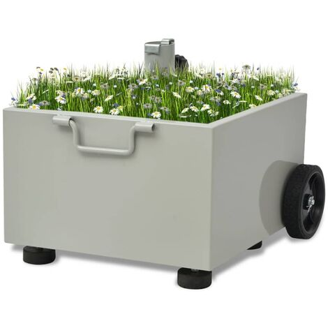 New Outdoor Parasol Umbrella Base Stand Garden Plant Pot Green / Grey / White