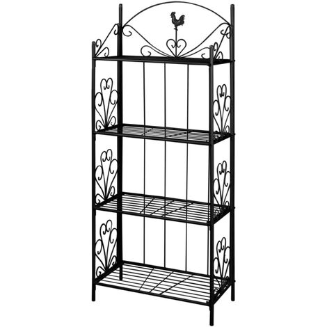 New Plant Rack Square Garden Plant Exhibit Steel Tube Black/White Selectable
