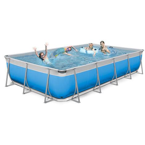 New Plast piscine hors sol rectangulaire 650x265 H125 complète FUTURA 650