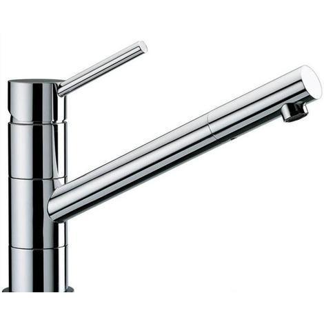 New Premium Heavy Chrome, Monobloc, Swivel Spout Kitchen Sink Mixer Taps (56076)