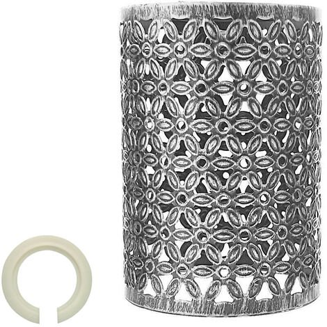 New style Brushed Silver Vintage metal wire cage lamp shade