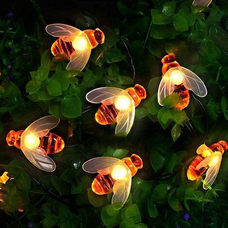 New Style Custom Garden Bee Wall Lamp Supplies Solar Night Light String Light Accessories Multi-style Warm White Solar Bee Light 5 Meters 20 Lights -8 Patterns