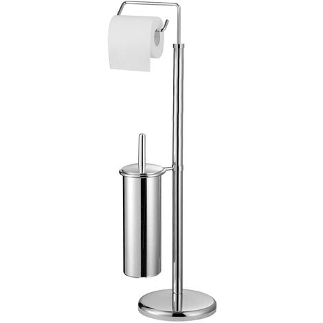New toilet brush and roll holder,chrome