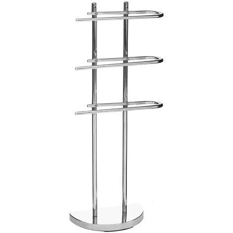 New towel stand,3 arm,chrome