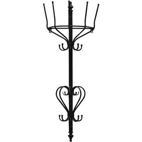 New York loft hanging rack, wall mountable, black distressed finish