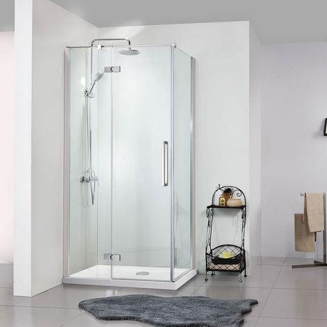 Newark Framed Pivot Shower Enclosure 8mm toughened glass door - 1200mm X 2000mm