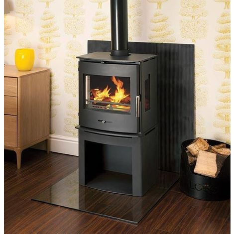 Newbourne 40FS Panorama Multifuel Stove With 400mm Log Store