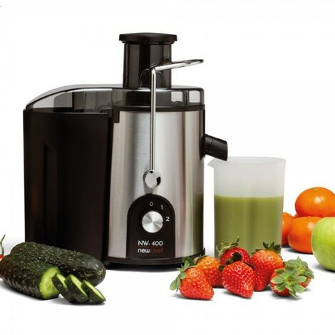 NEWCHEF-Licuadora Verduras y Frutas NW-4OO,Exprimidor de Zumos,Licuadora de vaso 600ML con 2Vel.,Centrífugo Libre de BPA