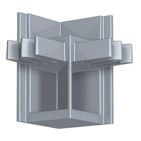 Newly R20 Raccord d'angle - Gris aluminium - Gris aluminium
