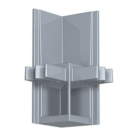 Newly R30 Raccord d'angle - Gris aluminium - Gris aluminium