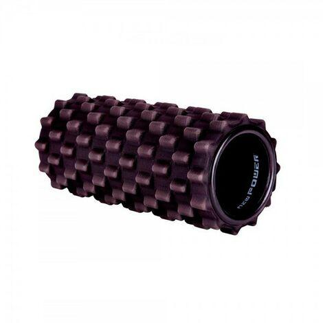 NEWPOWER-Rodillo de Espuma para Masaje Muscular(33x14cm) con Textura de Parrilla y Diseño Ergonómico
