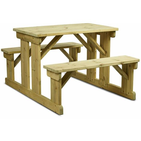 Newson Garden Outdoor Picnic Bench 6 Seater