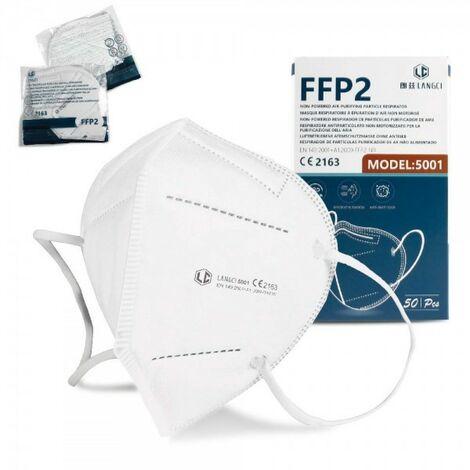 NEWTECK Mascarillas FFP2 CE2163, 50 uds., Alta eficiencia Filtración, Embalaje Individual. Normativa UNE-EN 149:2001+A1:2009