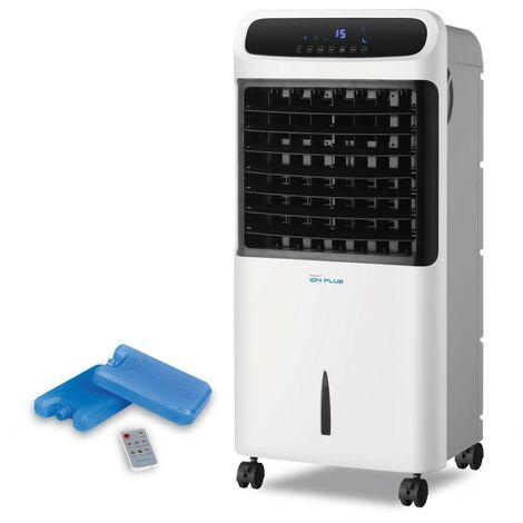 Newteck-Ventilador Portátil Ion+, 3 Vel, Programable, Oscilación y F. Dormir. Purificador de Aire con Frío-Calor. Incluye Mando