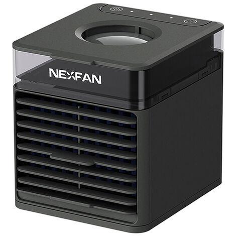 NEXFAN Enfriador de aire portatil con 3 velocidades de viento, purificacion de aire aromaticamente, aire acondicionado, oficina en casa, USB, mini escritorio, aire acondicionado, ventilador, humidificador, purificador de aire