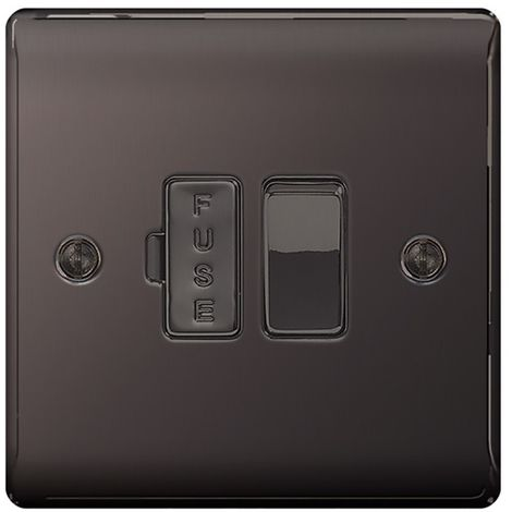 Nexus Metal 13A Switched Fused Connection Unit, Black Nickel Finish