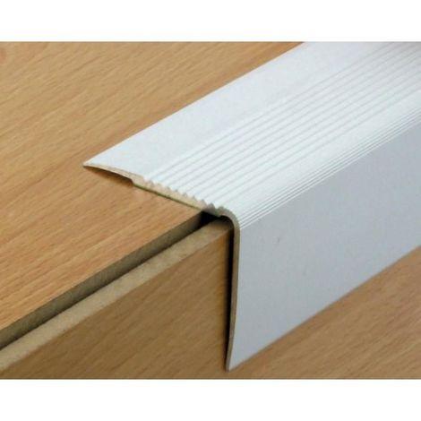 Nez de marche en aluminium type 41VA avec adhésif en 42 x 23 x 3000 mm