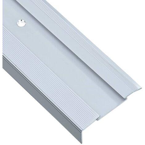 Nez de marche Forme en L 15 pcs Aluminium 134 cm Argenté