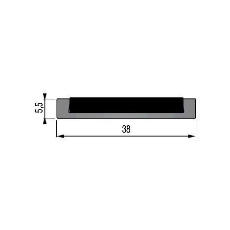 Nez de marche profilé FA30 à visser 3M aluminium 3m - 25 17 07