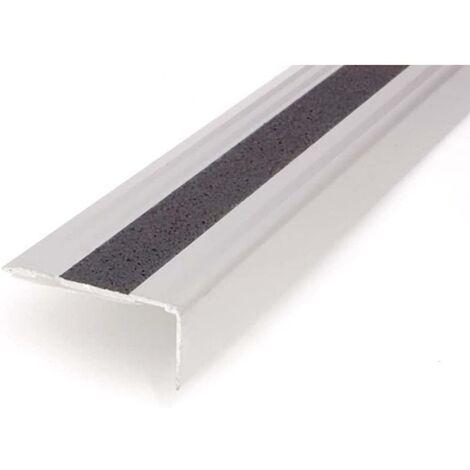 Nez de marches adhésifs argentés en aluminium argenté Dicar
