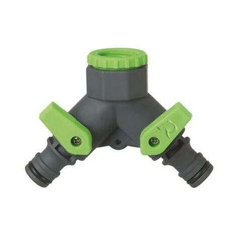 Nez de robinet à double sortie pour tuyau d'arrosage jardin