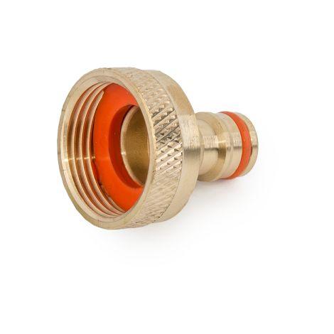 """Nez de robinet GW 1"""" (26/34) en LAITON pour tuyau d'arrosage (Lot de 2)"""