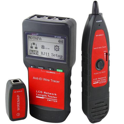 NF-8200 Longitud LAN profesional probador de cable RJ45 Tester Red de Monitoreo del perseguidor del alambre anti-interferencia de tono trazador con luz de fondo LCD