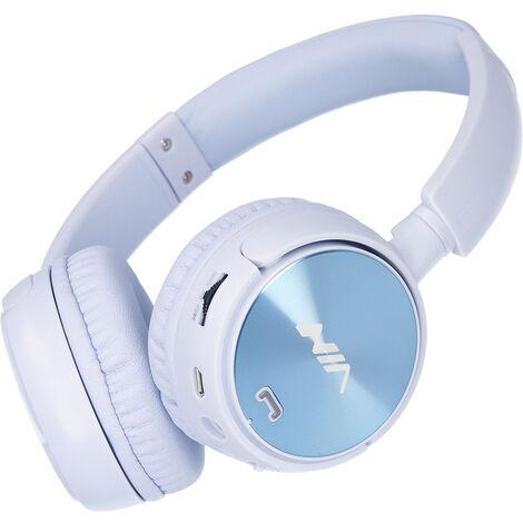 NIA Q2 casque pliable sur l\'oreille casque sans fil Bluetooth 3,5 mm AUX IN musique ¨¦couteur carte TF lecteur MP3 Radio FM avec microphone contr?le de l\'application, Bleu