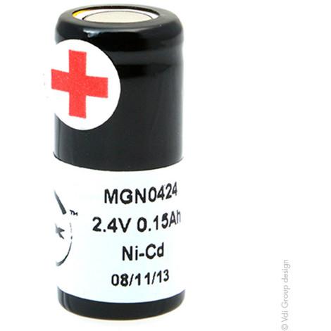 NiCd battery 2x 1/3AA NX 2S1P ST4 2.4V 150mAh FT