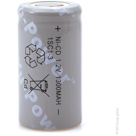 NiCd industrial battery SC 1SC1-3 1.2V 1300mAh FT