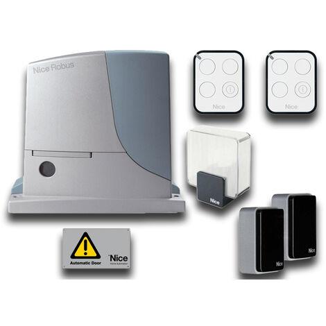 nice kit automatización puertas correderas 24v robuskit 600 bd rb600bdkce
