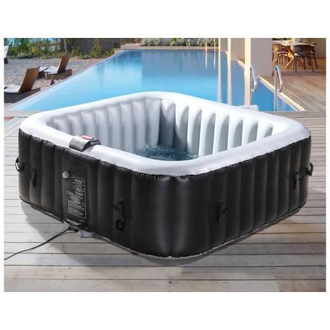 NICE PVC Inflatable Spa - 6 posti - Grigio / Nero