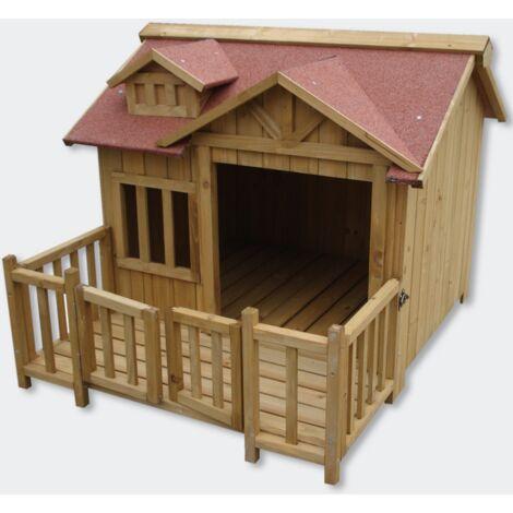 Niche a chien XL ou chenil en bois WC