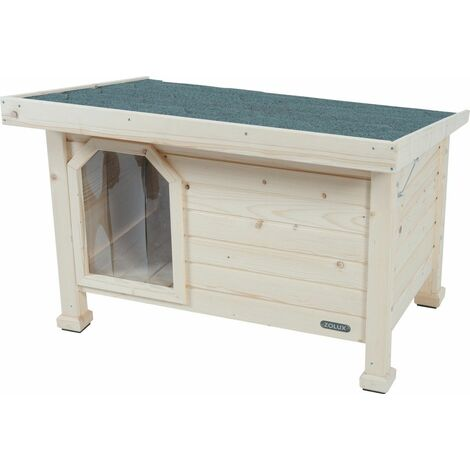 Niche bois toit plat medium