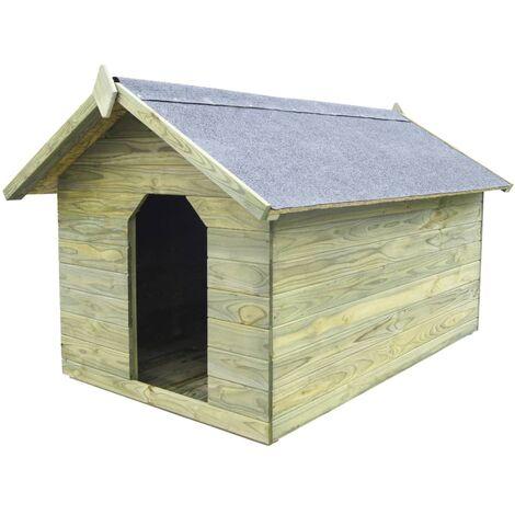 Niche de jardin avec toit ouvrant en bois de pin imprégné