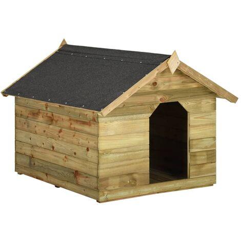 132b0ed346904 Niche de jardin avec toit ouvrant pour chien Pin imprégné FSC