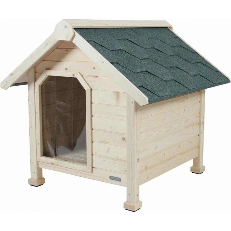 Niche en bois chalet, taille Extra Large. dimension ext. 116 x 105 x 105 cm de hauteur. niche chien.