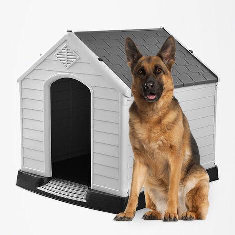 Niche en plastique intérieur et extérieur pour chiens de taille moyenne à grande Rock