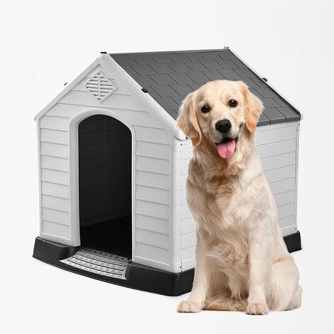 Niche en plastique pour chiens de grande taille extérieur intérieur BOBBY